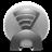 Grey Spotify Icon 48x48 png