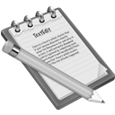 Grey TextEdit Icon 128x128 png