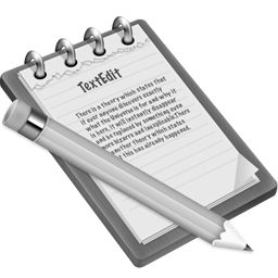 Grey TextEdit Icon 256x256 png