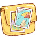 Folder Photo Icon 128x128 png