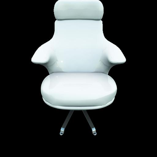 White Vinil Seat Icon 512x512 png