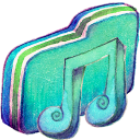 Green Music 2 Folder Icon 128x128 png