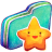 Green Starry Folder Icon