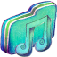 Green Music 2 Folder Icon 64x64 png