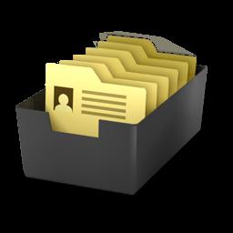 Card File Icon Desktop Business Icons Softicons Com