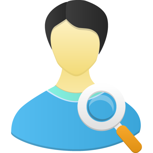 Male User Search Icon 512x512 png