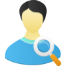 Male User Search Icon 96x96 png