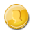 Gold Coin Single Icon