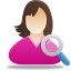 Female User Search Icon 64x64 png