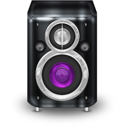 Graphite Purple Speaker Icon 256x256 png