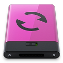 Pink Sync B Icon 128x128 png