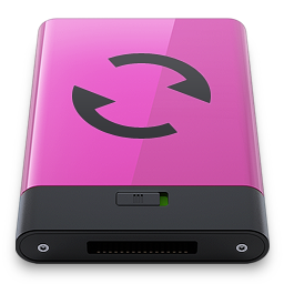 Pink Sync B Icon 256x256 png