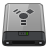 Grey Firewire B Icon