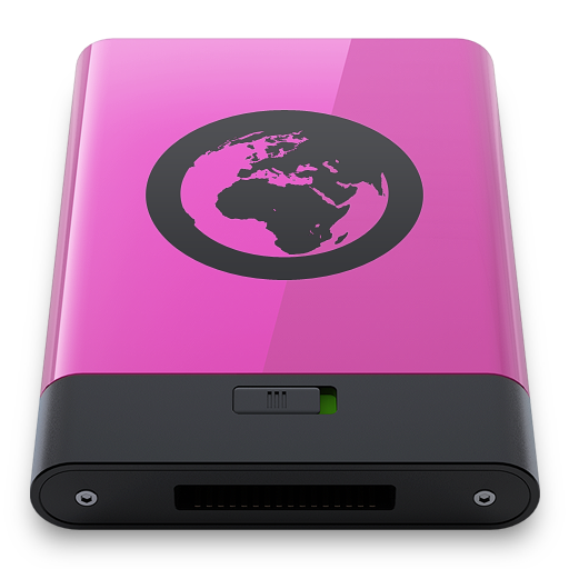 Pink Server B Icon 512x512 png