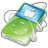 iPod Video Green Apple Icon