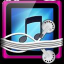 Pink Tunes Folder Icon