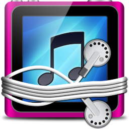Pink Tunes Folder Icon 256x256 png