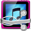 Pink Tunes Folder Icon 64x64 png