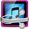 Pink Tunes Folder Icon 96x96 png