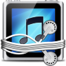 Silver Tunes Folder Icon 96x96 png