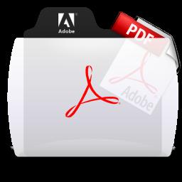 Acrobat File Types Folder Icon 256x256 png