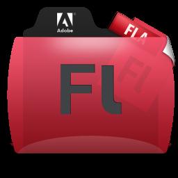 Flash File Types Folder Icon 256x256 png