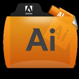 Illustrator File Types Folder Icon 256x256 png