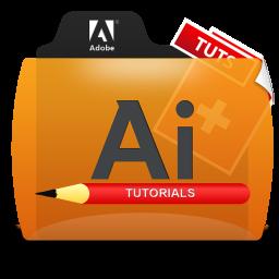 Illustrator Tutorials Folder Icon 256x256 png