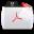 Acrobat File Types Folder Icon 32x32 png