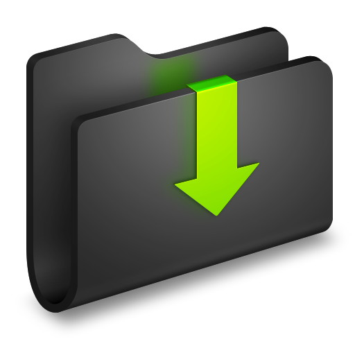 Downloads 2 Icon - Alumin Folders Icons - SoftIcons.com