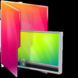 Aurora Folders Desktop Icon 256x256 png