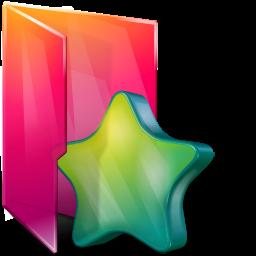 Aurora Folders Favorites Icon 256x256 png