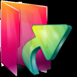 Aurora Folders Links Icon 256x256 png