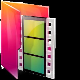 Aurora Folders Movies Icon 256x256 png