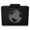 Black Grey Internet Icon 128x128 png