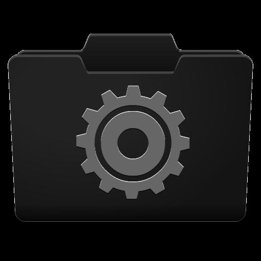 Black Grey Options Icon Classy Folder Icons Softicons Com