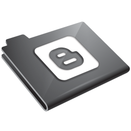 Blogger Grey Icon 256x256 png