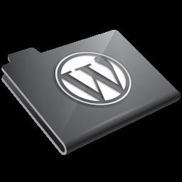 Wordpress Grey Icon 256x256 png