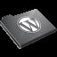 Wordpress Grey Icon 64x64 png