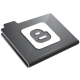 Blogger Grey Icon 80x80 png