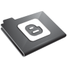 Blogger Grey Icon 96x96 png
