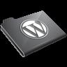 Wordpress Grey Icon 96x96 png