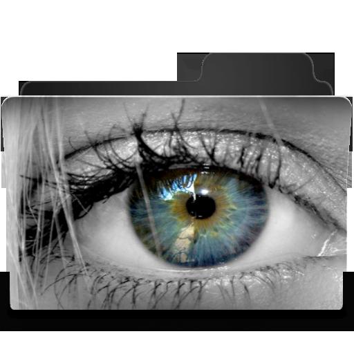 Blue Green Eye Icon 512x512 png