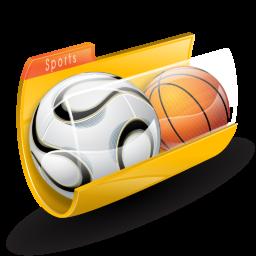 Sports Folder Icon 256x256 png