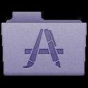 Purple Applications Folder Icon