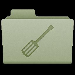 Green Utilities Folder Icon 256x256 png