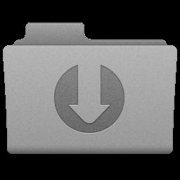 Grey Downloads Folder Icon 256x256 png