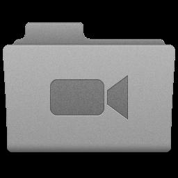 Grey Movies Folder Icon 256x256 png