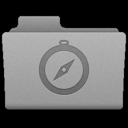 Grey Sites Folder Icon 256x256 png