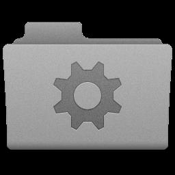 Grey Smart Folder Icon 256x256 png